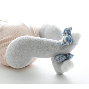 Baby Winter Terry-Loop Hosiery Korean Style Doll Butterfly Pillow Newborn Baby Socks over the Knee Stockings