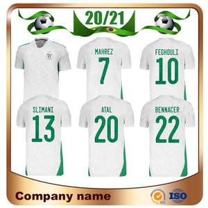 2 Yıldız 2021 Afrika Kupası Cezayir # 7 Mahrez Futbol Forması 20/21 Ev Feghouli Brahimi BanaRi Bounedjah Futbol Gömlek Atal Futbol Üniforması