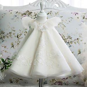 Children dress baby lace dress baptism birthday girls bow lace embroidery cute children pettiskirt princess