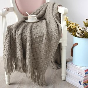 LYN&GY 130x150cm Throw Tassel Blanket Weave Reticular Plaid Sofa Cover Carpet Plaid Bedspreads Blanket Scarf Shawl1