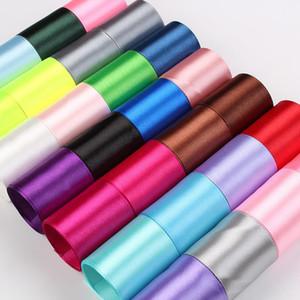 Satinband 9mm * 250 Yards Hohe Qualität Polyester Band für Blume Geschenk Verpackung Festival Geschenk Hochzeitsdekoration AHA2620