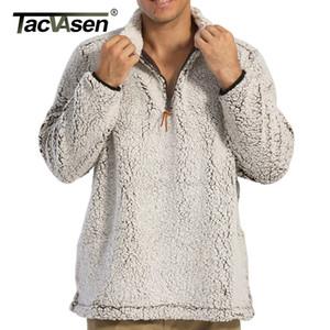 Tacvasen 1/4 Zip Jersey Shirt Hombres Chaquetas Fuzzy Chaquetas Invierno Frosty Fleece Casual Sherpa Swerepa Sweater Abrigos