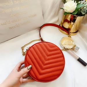 2020 New Fashion Brand Round Design Fashion Lady Borsa a tracolla in pelle Lady Messenger Bag Lady Portafoglio Femmina Round Borsa con scatola