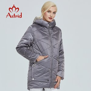 Astrid winter jacket women Contrast color Waterproof fabric with cap design thick cotton clothing warm women parka AM-2090 201120