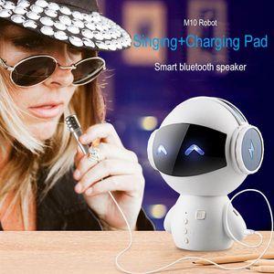 TV Karaoke Intelligent Robot Bluetooth Speaker M10 Smart-Robot Lindo Bass Portátil Estéreo Estéreo Altavoz inalámbrico para Karaoke de banco de energía