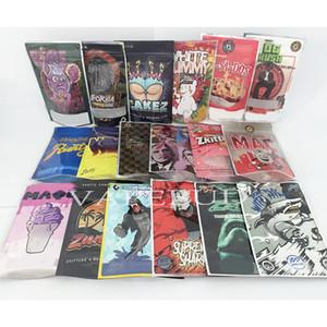 3.5g bag white runtz og pink sharklato gorilla glue cakez smell proof bags ziplock exotic packaging custom print logo
