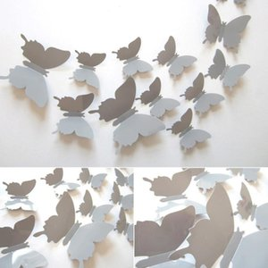 12pcs Bag 3d Butterfly Wall Stickers Rooms Decorations Removable Wall Art DIY Home Decor Stickers for Kids Bedroom Decor