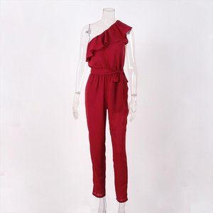 New Fashion Women Solid Jumpsuit Lady Fashion Playsuit Femal 2019 Smmer New Romper Drop Shipping Good Quality