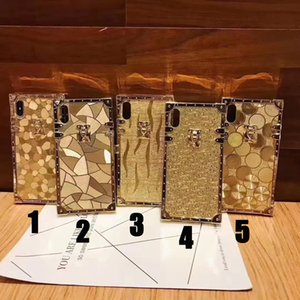 New Square Tyrant Gold 2020 Moda Caso de Ouro de Luxo para iphone 7 8 Plus XS XR XSMAX 11 12PRO 12PRO MAX HARD CASE BLING