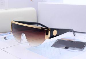 2021 Novo Luxur Top Quality Classic Pilot Sunglasses Designer Marca Moda Mens Mulheres Sun Óculos Óculos Eyewear Lentes de vidro de metal com caixa 0019