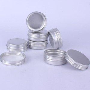30ML الفضة المعادن الألومنيوم جرة التجميل، 30 جرام الصلبة عطر التجميل التجميل جرة عينة عينة حاوية EED3576