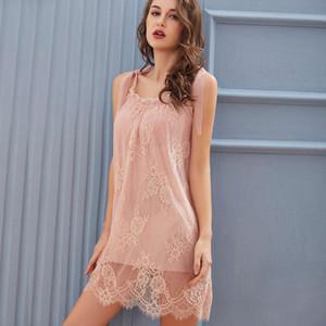 Sexy pajamas court nightdress women's lace suspender skirt