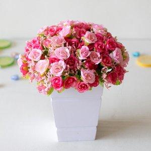 21 diamond roses 7 prongs spring roses artificial flowers artificial plastic flowers home decoration desktop decorations
