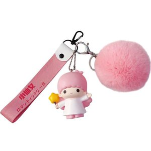 Hot Selling Cartoon Cute Baby Style Keychain With Fur Ball Creative Souvenir Gifts For Lovers