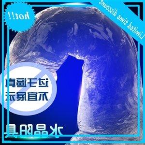 TPE Transparent Crystal Imitation Penis Femme Soft Penile Manuel