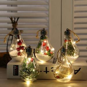 LED Transparent Bottle Christmas Tree Pendant Xmas Light Ball Hanging Ornament Christmas Tree Decoration Pendant Bulb Ball