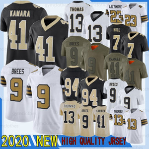 9 Drew Brees New Jersey 41 Alvin Kamara 13 Michael Thomas 7 Taysom Hill 23 Marshon Lattimore 94 Cameron 88 Dez 2020 Nuevo fútbol Jersyes