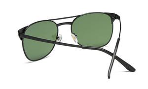 Fashion Summer Designer Sunglasses Metal Frame Retro Casual Anti-Glare Glass UV400 Protection Eyewear Sun Glasses
