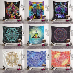 14 Styles Bohemian Mandala Tapestry Beach Towel Shawl Printed Yoga Mats Polyester Bath Towel Home Decoration Outdoor Pads