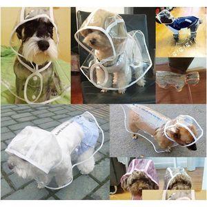 Brand Dog Raincoat Transparent Kleine Hunde Regenmantel Wasserdichte Welpen Regenmäntel Regenbekleidung Sommer Pet Kleidung Hundebedarf 3 Designs KTS23