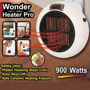 Electric Fan Heater 900W Handy Heater Portable Home Office Warm Fan Hot Instant Air Fan Stove Radiator Remote Winter Warmer