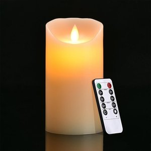11 Sizes for Choice Ivory LED Candles with Remote Control Pillar Scented Bougie Velas Electric for Birthday Party Home Decoration