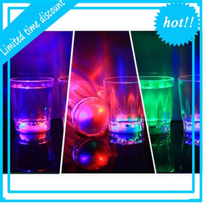 Glowing Glasses wine tumbler Mini Luminous Flash light LED Glass Small Colorful KTV concert bar special Drinkware Flashing coffer mugs