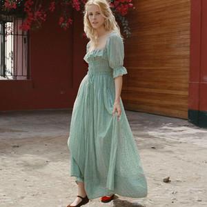 Ruffles Trim Zarif Uzun Elbise Kadın Yaz Sonbahar Yarım Düşük Kesim Seksi Elbise Bayanlar Rahat Yüksek Bel Pileli Midi Elbise