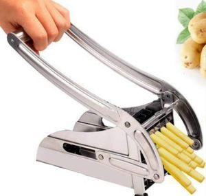Kitchen Tools French Fries Potato Chips Strip Cutting Maker Stainless Steel Slicer Chopper Dicer + 2 Blades jllnIKT eatout