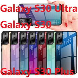 Для Samsung Galaxy S21 ультра закаленного стекла Case красочный мягкий TPU глянцевый гель Galaxy S21 плюс телефон
