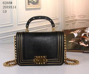 New Fashion Women's Cover Antique Copper Catena Borsa Straddle Borsa a spalla singola 6268 Q1208