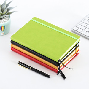 A5 Daily Agenda Pocket Planner Elastic Band Journal Diary PU Leather Cover Notebook Stationery Gifts Personalized Customized VTKY2178