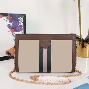 Kadınlar 2020 Kahverengi İçin Yeni Çanta Kadınlar Çanta Tasarımcısı Deri Zincir Küçük Omuz Çantaları Bez El Çantası Moda Crossbody Çanta
