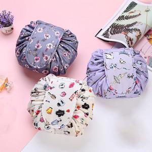 Women Fashion Portable Drawstring Travel Cosmetic Bag Makeup Bag Organizer Make Cosmetic Bag Storage Case Toiletry Pouch Beauty DHE3354