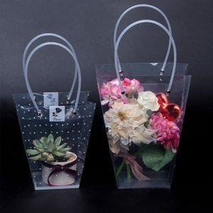 Rose Party Handbag For Transparent Handy Gift Bag Kraft 10PCS Wedding Portable Birthday Gift Box Packaging Box Bqbvm Cake Flower Candy Qkjd