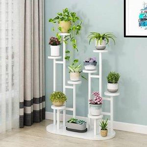 Planta de madeira Flower Crack Floor Tipo Multilayer Balcão Flowerpot Titular Bela Pergola1