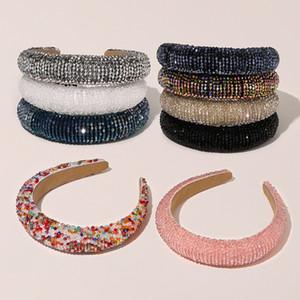 Hair Bands Crystal Shiny Hairband Full Padded Diamond Bands For Women Lady Luxury Headband Hair Hoop Fashion Hair Accessories GWA2638