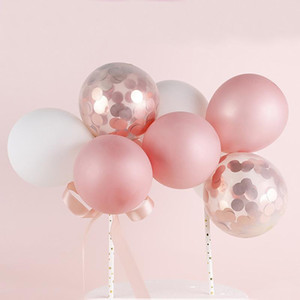 1Pack 5Inch Balloon Cake Topper Cloud Shape Confetti Balloon Cake Decoration Accessories for Birthday Baby Shower Wedding