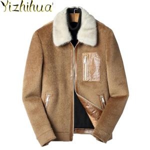 Azazel Wool Coat Men Vicugna Jacket Short Korean Overcoat Collar Mens Coats and Jackets Erkek Kaban F-XK-8929 KJ2429