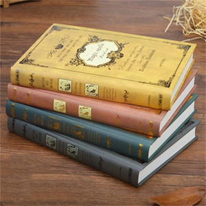 European Style Retro Notebook Thickened Individual Creativity A5 Notebook Girl Magic Book Diary Female College Students
