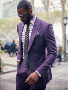 Custom Made Mens Suits Groom Tuxedos Groomsmen Wedding Party Dinner Best Man Suits Blazer (Jacket+Pants)