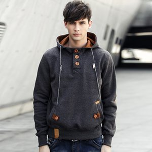 Mens Autumn Mens Loose Personality Casual Printed Cool Sweatshirts Button Hoodies Rapper Fashion Spring Pullover Fall Hooded Tops Emnnj