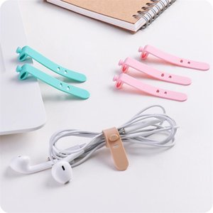 Silicone Wirewrapped Headset Earphone Clip Storage Soft With Buckle Adjustable Cablewinder Portable Student Cordclip Compact 0 5ll F2