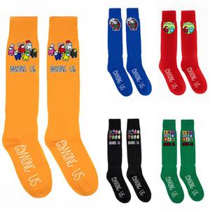 40Styles среди США Носки Unisex Knee High Socks Игры Мультфильм Распечатать Спорт Футбольная Нога Теплее Среднего Компрессионные Чулки Рождества