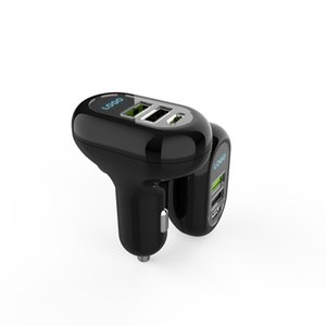 Fast charge dual micro usb electric car charger QC3.0+2.4A+PD18W for cigarette lighter socket
