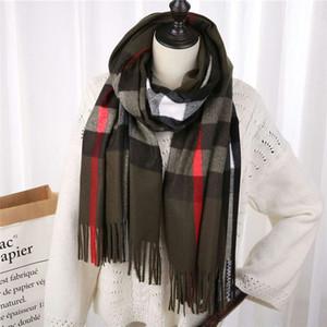 Wholesale winter cashmere scarf high-grade soft thick cashmere scarv classic long tassel scarf men's women's brands shawl scarves 200*70cm