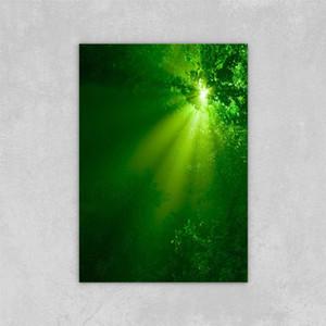 Decorated Abstract Picture Art Paints su tela Una foto di raggi di sole verdi pittura a olio di tela di tela di tela su tela decorazioni da parete 24x36 pollici