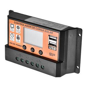 30A / 50A / 60A / 70A / 100A Solarladeteuerung für Solarpanel-Batterie mit Dual-USB-Anschluss 12V / 24V MPPT / PWM Auto-Paremeter PERACTA