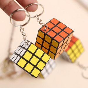 3cm Mini Puzzle Cube Key Chain Colorful Magic Cubes toy Kid Intelligence Toys Kids birthday Gifts Fun Puzzle Game Toys