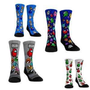Gioco tra i calzini statunitensi Adulti Unisex Medium Compression Ginocchio calzini alti per le donne Uomo Anime carino Anime cartone animato Calze di Natale 18 colori F120801